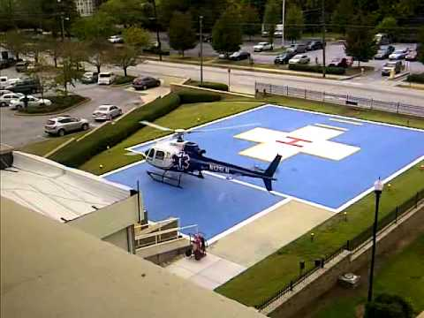 helicopter fueling at Atlanta Medical Center