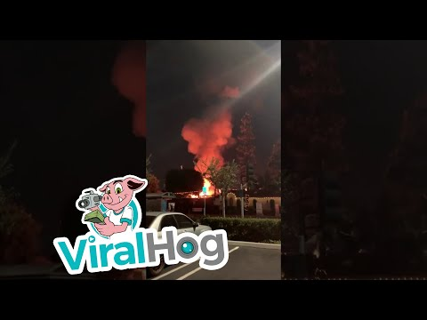 Fire Balls In Huntington Beach || ViralHog