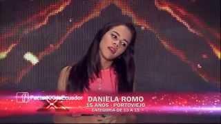 Daniela Romo - El Sol No Regresa | (Programa 4) Casting Factor X Kids Ecuador 2015
