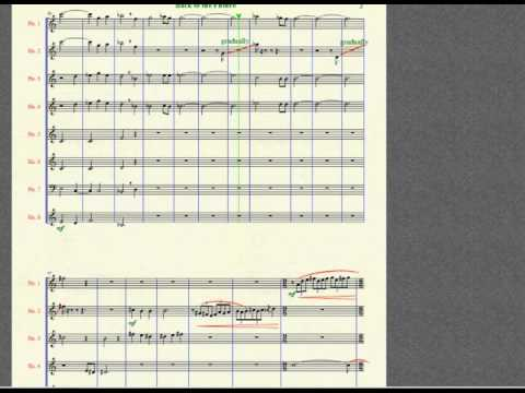 Back to the Future - the Vienna horns music sheet
