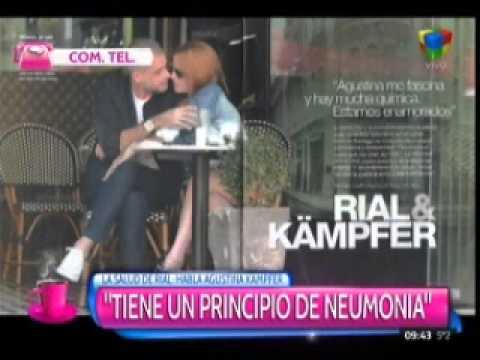 """Agustina Kampfer confirmó que Rial tiene """"principio de neumonía"""""""