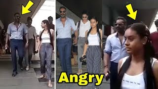 Oh ! Nysa Devgan got angry on mom Kajol and Dad Ajay Devgan and run away from them