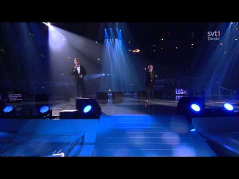 Tommy Körberg & Danny Saucedo - I Can See Myself In You (Live, invigningen Friends Arena 2012) HD