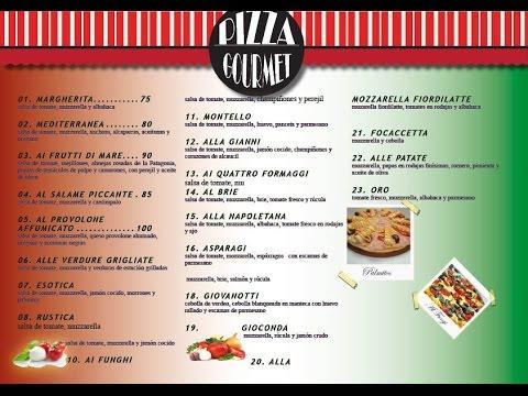 In Design: Menu De Pizza