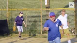 "The 86 year old softball player whose wife calls his team ""The Old Farts"""