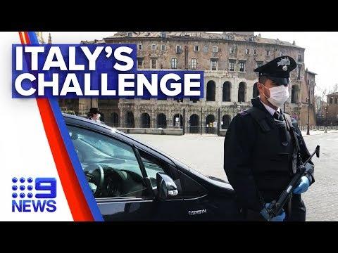 Coronavirus: Italy faces most difficult challenge since WWII | Nine News Australia