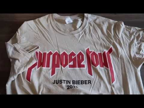 Justin Bieber x Jerry Lorenzo Purpose tour merchandise (fit video at the end)