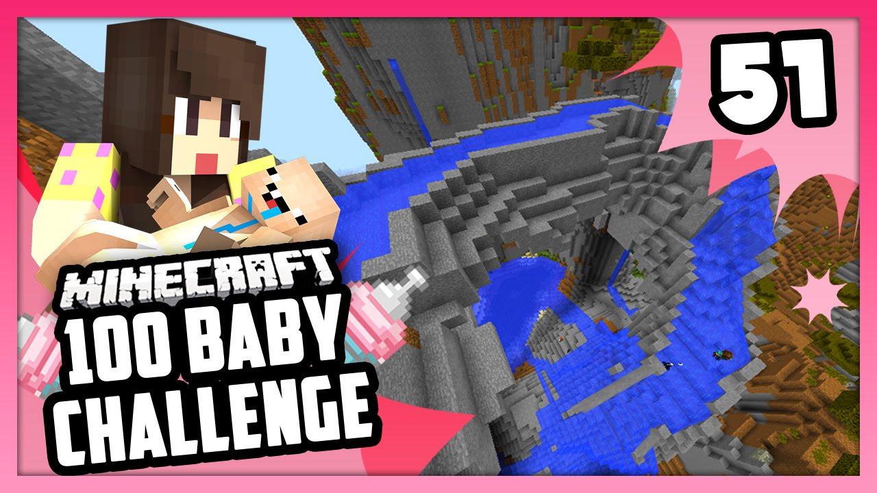 CRAZIEST WATER SLIDE! - Minecraft: 100 Baby Challenge - EP 51