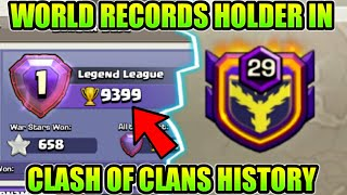 OMG😲WORLD RECORDS MADE IN CLASH OF CLANS HISTORY (HINDI)