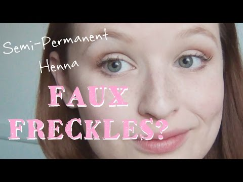 Semi Permanent Faux Freckles Henna Freckles Tutorial Youtube