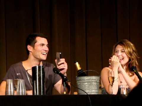 Nathan Fillion calls Sean Maher during a panel at Dragon*Con 2010