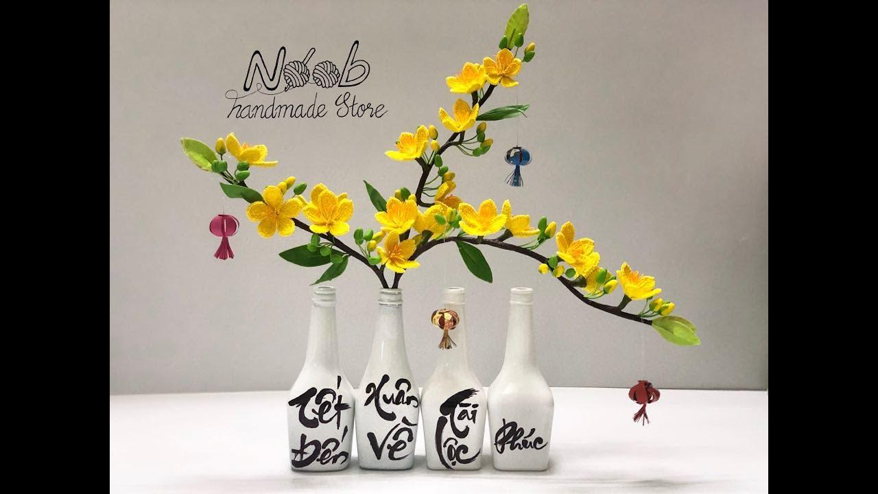 Hướng dẫn móc hoa mai, hoa đào