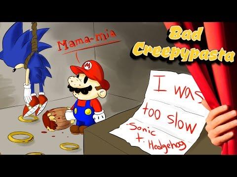 BAD CREEPYPASTAS - 'Sonic Faded Colours' & 'Paper Mario Cursed Star'