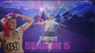 Tekashi69 Plays Fortnite Season 5 and gets caught in the storm (Meme)