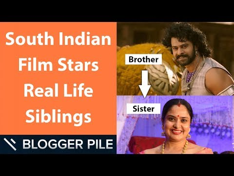 South Indian Film Stars Real Life Siblings