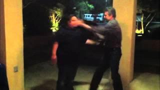 Big Man Gets Hit Multiple Times in Blink of Eye, by Black Belt Victor Marx