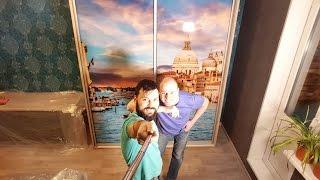Шкаф купе с фотопечатью(Каркасный шкаф купе с фотопечатью на стеклах. Боковины, пол, потолок и две стойки выполнены из ЛДСП толщиной..., 2016-02-06T19:44:32.000Z)