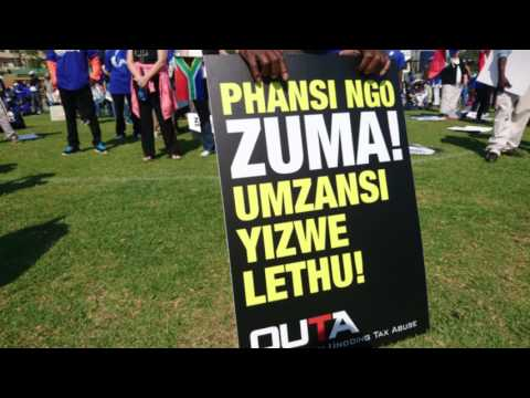 Hundreds of South Africans join anti-Zuma rally in Pretoria