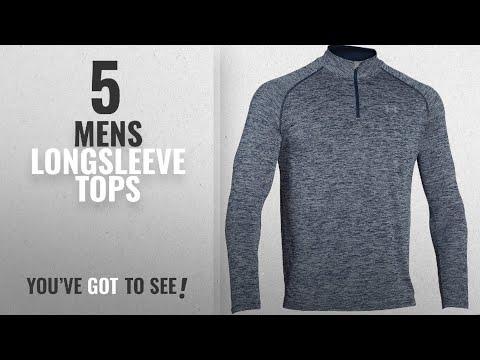 Top 10 Mens Longsleeve Tops [2018]: Under Armour Men's Tech 1/4 Zip Long Sleeve T-Shirt, Midnight