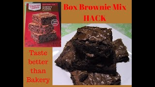 BOXED BROWNIE MIX HACK - Taste Better than Bakery / How to make Boxed Brownie mix taste better