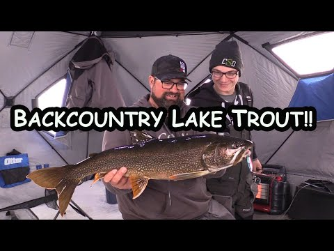 First Ice Fishing Lake Trout Trip Of The Year!! (Northern Manitoba)