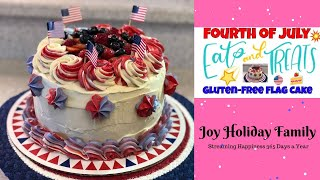 American Flag Cake - 4th of July