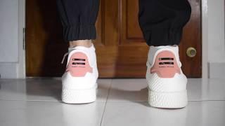 What Are Thoze?!? - Adidas x Pharrell Williams Tennis Hu (White/Raw Pink) On Feet