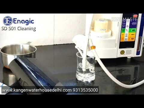 Kangen water SD 501 machine cleaning