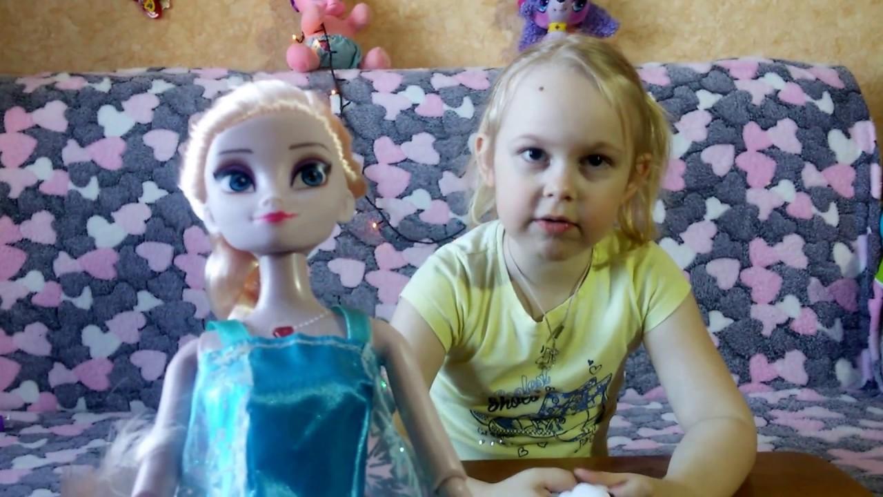Видео для детей Эльза и Олаф у нас в гостях/Video for children Elsa and Olaf are visiting us