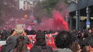 Quelques violences dans la manifestation Loi Travail (12 septembre 2017, Paris)
