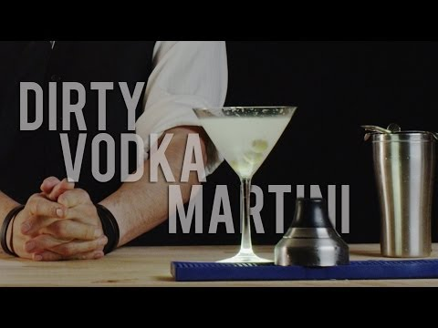 How to Make The Dirty Vodka Martini  Best Drink Recipes