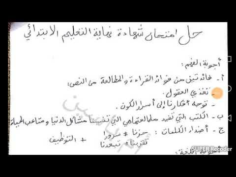 d604bcd3d تحميل حل امتحان اللغة العربية شهادة التعليم الإبتدائي 2019 mp3