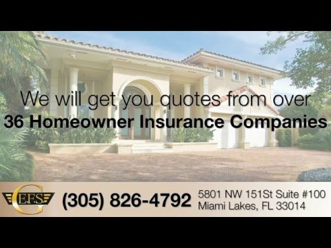 Homeowners Insurance Quotes Miami, Coral Gables, Pine Crest (305)826-4792