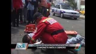 Camioneta mata a obrero en la Av Larco