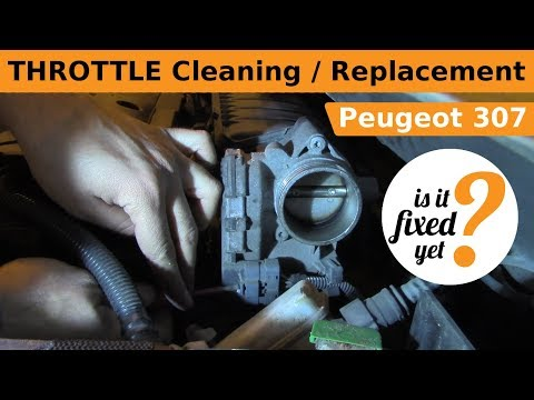 THROTTLE Cleaning / Replacement - Peugeot 307