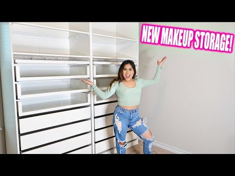 My NEW MAKEUP STORAGE! *BEAUTY ROOM*