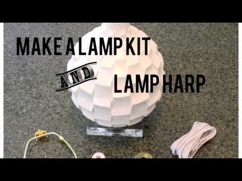 How To Make A Lamp From A Vase Youtube