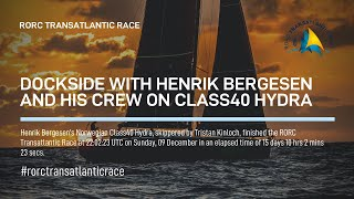 2018 RORC TRANSATLANTIC RACE HYDRA (Henrik Bergesen) ENGLISH