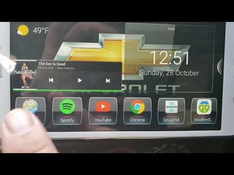 2003 Chevy S10 Tablet Stereo