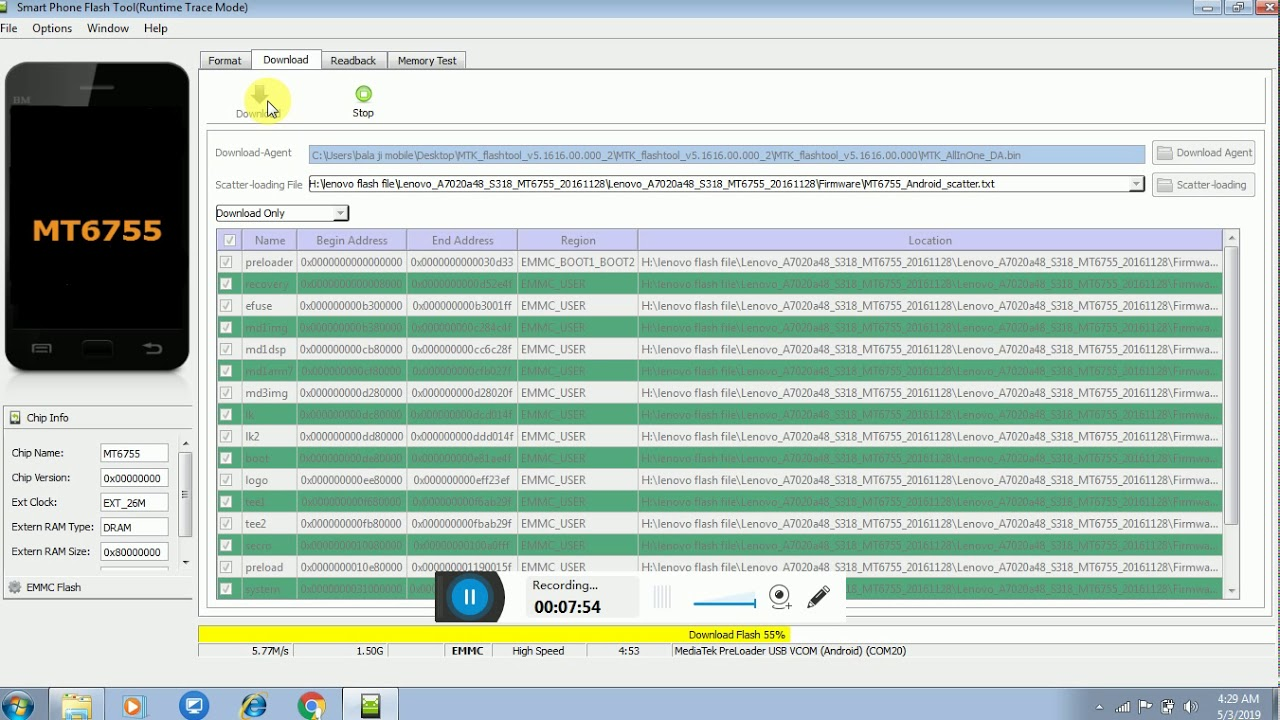 Lenovo vibe k5 Note A7020a48 flashing Error 1000% working