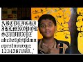How to write letters and words in Latin Gothic Style||Spectrum Creativity Corner||