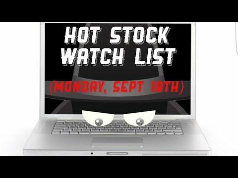 Pre-Market Watch List (Monday, Sept 18th)