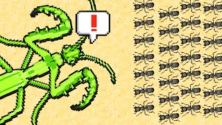 GIANT Preying Mantis vs Ant Army in Pocket Ants Colony Simulator