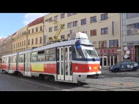 Električky v Bratislave - Trams in Bratislava, Slovakia, 2016