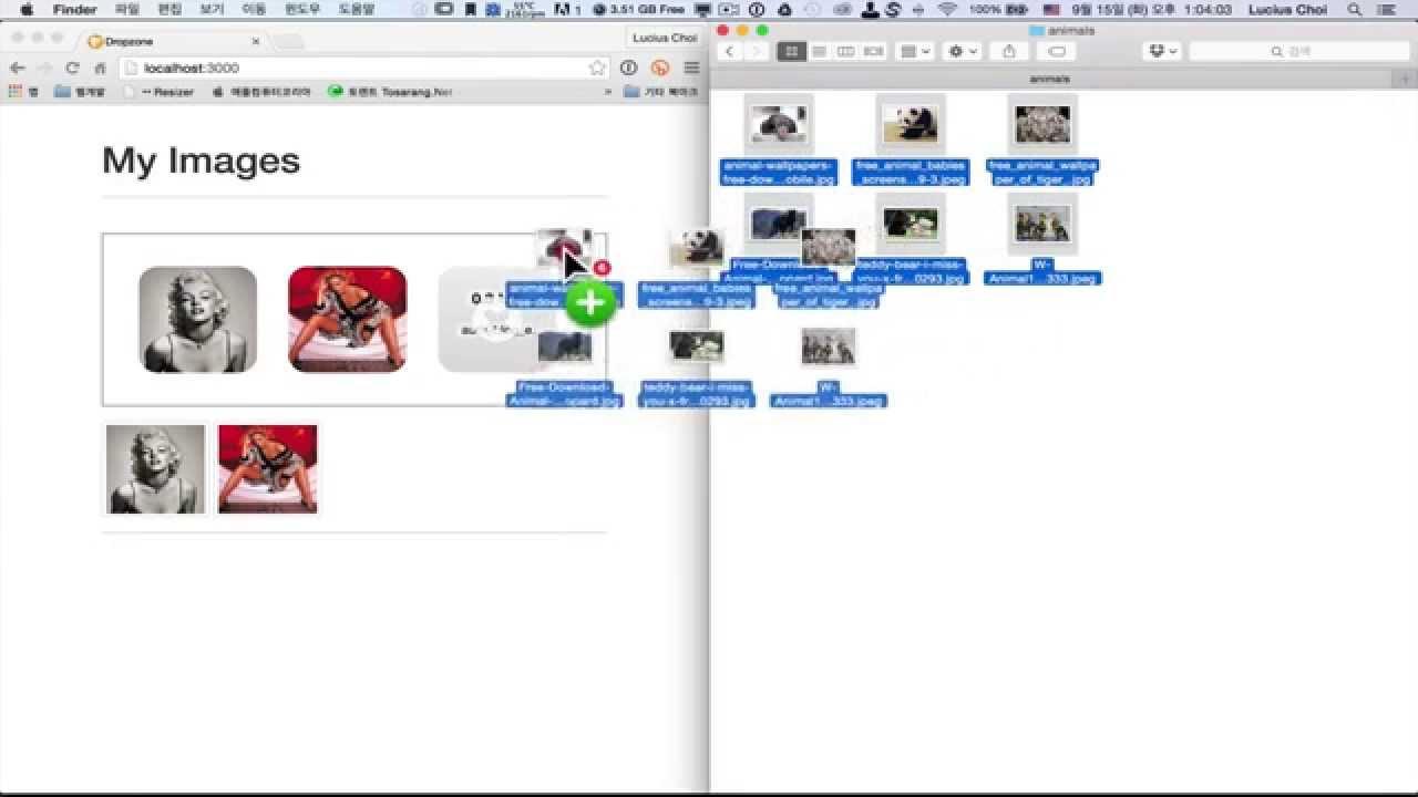 Demonstration of Multiple File Upload using Dropzone js