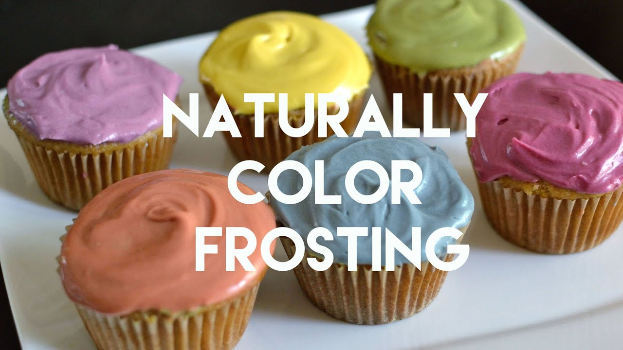 How to Color Frosting Naturally & Quickly - YouTube