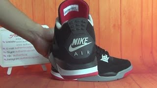 ed18b9aeaf4 Authentic Air Jordan 4 Retro 89 Bred with nike logo HD Unboxing Review From  authenticaj