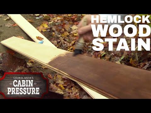 DIY Hemlock Wood Stain