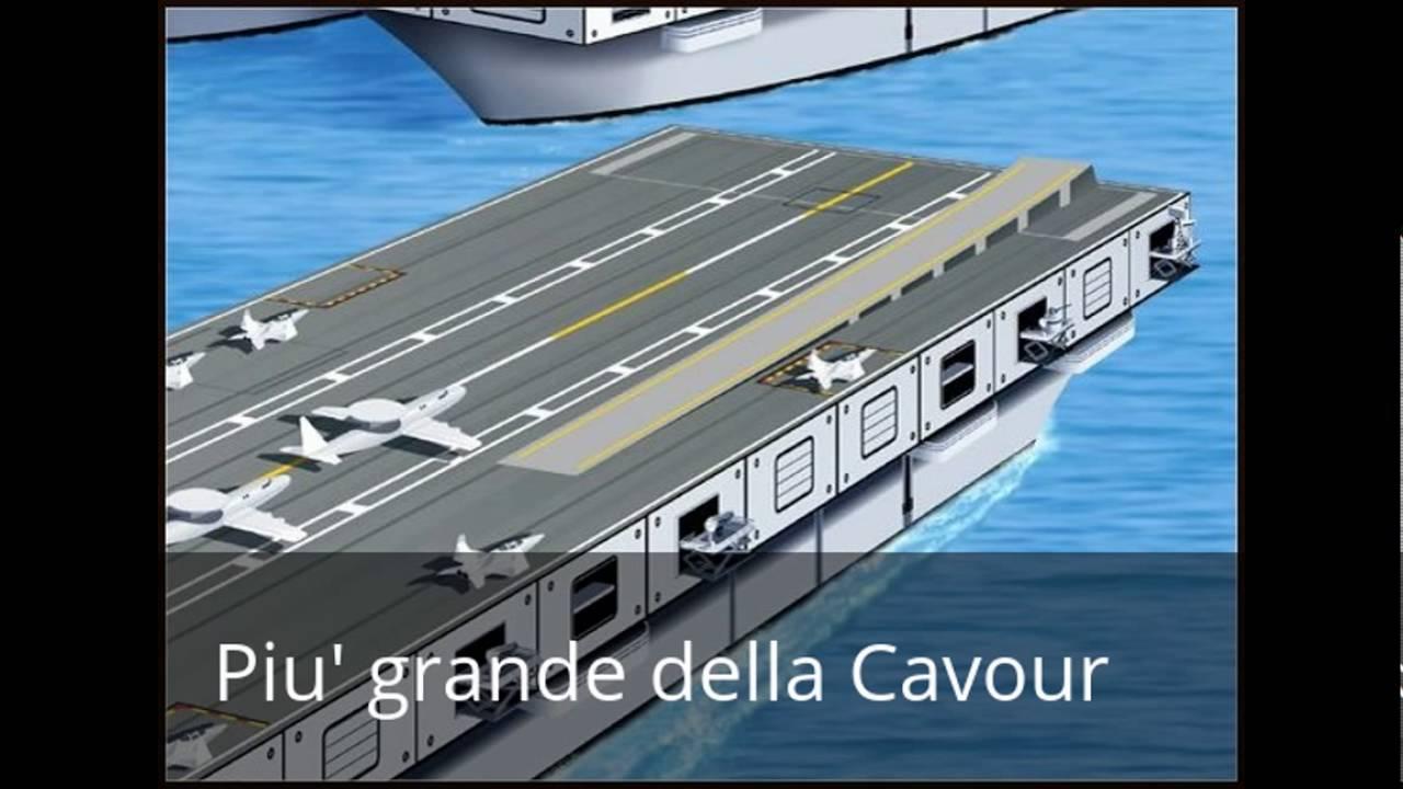Italia la nuova portaerei giulio cesare youtube - Nuova portaerei italiana trieste ...