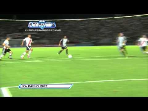 Gol Ruiz. River 0 Estudiantes BA. 1. Copa Argentina 2013. 16avos.